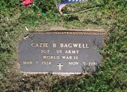 BAGWELL (VETERAN WWII), CAZIE B. - Lawrence County, Arkansas | CAZIE B. BAGWELL (VETERAN WWII) - Arkansas Gravestone Photos