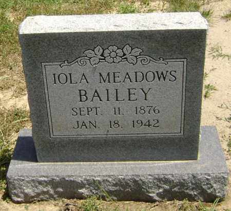 MEADOWS BAILEY, IOLA - Lawrence County, Arkansas | IOLA MEADOWS BAILEY - Arkansas Gravestone Photos