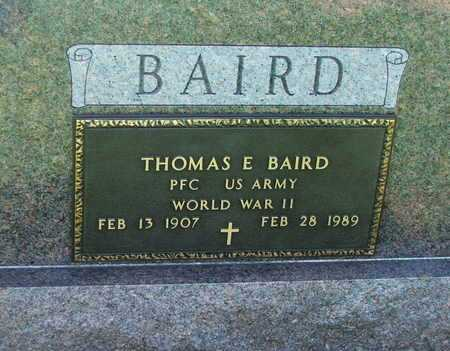 BAIRD  (VETERAN WWII), THOMAS ELMER - Lawrence County, Arkansas | THOMAS ELMER BAIRD  (VETERAN WWII) - Arkansas Gravestone Photos