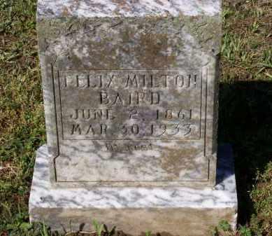 BAIRD, FELIX MILTON - Lawrence County, Arkansas   FELIX MILTON BAIRD - Arkansas Gravestone Photos