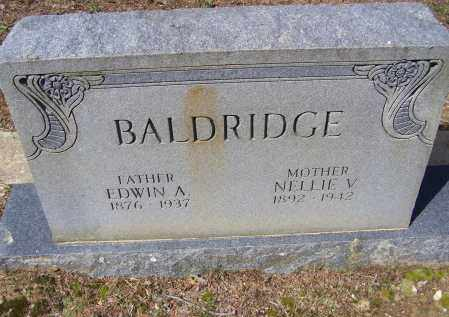 BALDRIDGE, EDWIN ARTHUR - Lawrence County, Arkansas | EDWIN ARTHUR BALDRIDGE - Arkansas Gravestone Photos