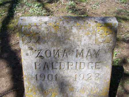 MIZE BALDRIDGE, ZONA MAY - Lawrence County, Arkansas | ZONA MAY MIZE BALDRIDGE - Arkansas Gravestone Photos