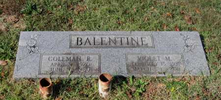 BALENTINE, COLEMAN RICHARD - Lawrence County, Arkansas | COLEMAN RICHARD BALENTINE - Arkansas Gravestone Photos