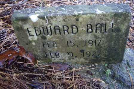 BALL, EDWARD - Lawrence County, Arkansas   EDWARD BALL - Arkansas Gravestone Photos