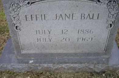 IVINS BALL, EFFIE JANE - Lawrence County, Arkansas | EFFIE JANE IVINS BALL - Arkansas Gravestone Photos