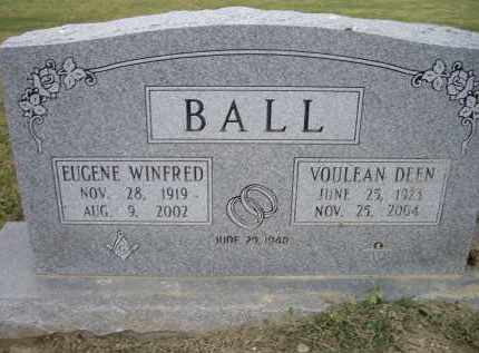BALL, SR., EUGENE WINFRED - Lawrence County, Arkansas | EUGENE WINFRED BALL, SR. - Arkansas Gravestone Photos