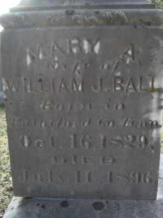BALL, MARY A. CROUSE - Lawrence County, Arkansas | MARY A. CROUSE BALL - Arkansas Gravestone Photos