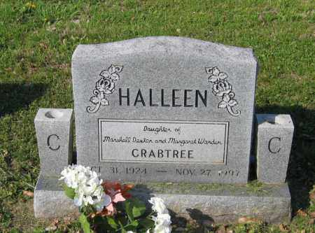CRABTREE BARBARINE, HALLEEN - Lawrence County, Arkansas | HALLEEN CRABTREE BARBARINE - Arkansas Gravestone Photos