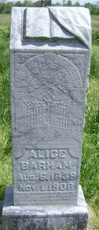 BARHAM, ALICE - Lawrence County, Arkansas | ALICE BARHAM - Arkansas Gravestone Photos