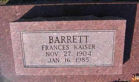 BARRETT, FRANCES WALKER - Lawrence County, Arkansas | FRANCES WALKER BARRETT - Arkansas Gravestone Photos