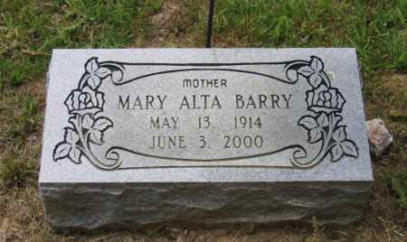 BARRY, MARY ALTA - Lawrence County, Arkansas | MARY ALTA BARRY - Arkansas Gravestone Photos
