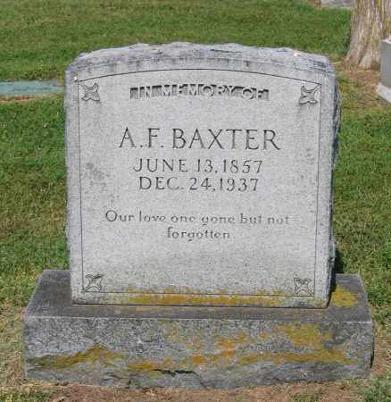 BAXTER, A. F. - Lawrence County, Arkansas | A. F. BAXTER - Arkansas Gravestone Photos