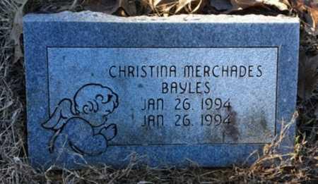 BAYLES, CHRISTINA MERCHADES - Lawrence County, Arkansas | CHRISTINA MERCHADES BAYLES - Arkansas Gravestone Photos