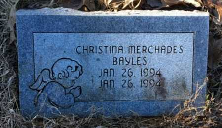 BAYLES, CHRISTINA MERCHADES - Lawrence County, Arkansas | CHRISTINA MERCHADES BAYLES - Arkansas Gravestone Photos