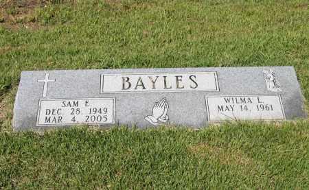 """BAYLES, SAM EUGENE """"BULL"""" - Lawrence County, Arkansas   SAM EUGENE """"BULL"""" BAYLES - Arkansas Gravestone Photos"""