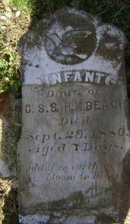 BEACH, INFANT DAUGHTER - Lawrence County, Arkansas | INFANT DAUGHTER BEACH - Arkansas Gravestone Photos