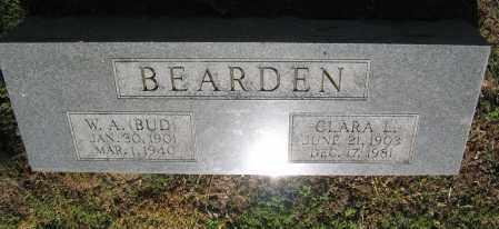 "BEARDEN, W. A. ""BUD"" - Lawrence County, Arkansas | W. A. ""BUD"" BEARDEN - Arkansas Gravestone Photos"