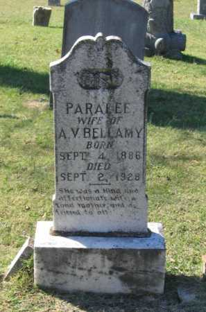 MILLER BELLAMY, PARALEE - Lawrence County, Arkansas | PARALEE MILLER BELLAMY - Arkansas Gravestone Photos