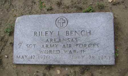 BENCH  (VETERAN WWII), RILEY LEE - Lawrence County, Arkansas | RILEY LEE BENCH  (VETERAN WWII) - Arkansas Gravestone Photos