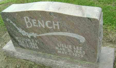"BENCH, LILLIAN LEE ""LILLIE"" - Lawrence County, Arkansas 