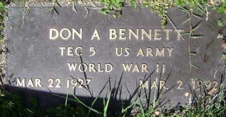 BENNETT (VETERAN WWII), DON A. - Lawrence County, Arkansas | DON A. BENNETT (VETERAN WWII) - Arkansas Gravestone Photos