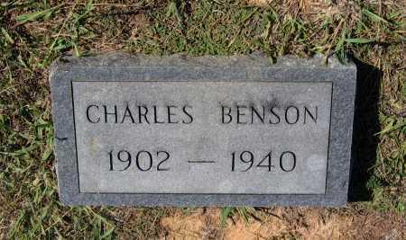 BENSON, CHARLES OSCAR - Lawrence County, Arkansas   CHARLES OSCAR BENSON - Arkansas Gravestone Photos