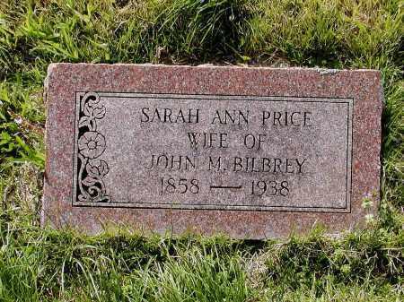 PRICE BILBREY, SARAH ANN - Lawrence County, Arkansas   SARAH ANN PRICE BILBREY - Arkansas Gravestone Photos