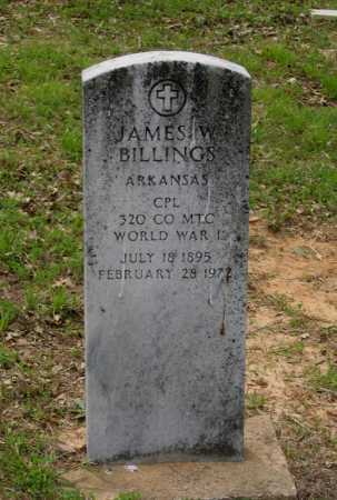 BILLINGS (VETERAN WWI), JAMES W. - Lawrence County, Arkansas | JAMES W. BILLINGS (VETERAN WWI) - Arkansas Gravestone Photos