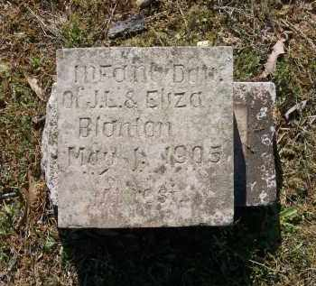 BLANTON, INFANT DAUGHTER - Lawrence County, Arkansas | INFANT DAUGHTER BLANTON - Arkansas Gravestone Photos