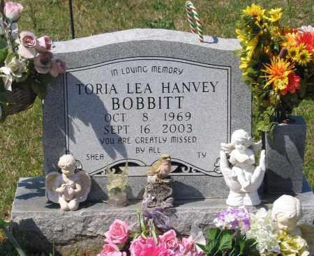 HANVEY BOBBITT, TORIA LEA - Lawrence County, Arkansas | TORIA LEA HANVEY BOBBITT - Arkansas Gravestone Photos