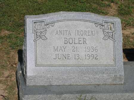 ROREX BOLER, ANITA - Lawrence County, Arkansas   ANITA ROREX BOLER - Arkansas Gravestone Photos