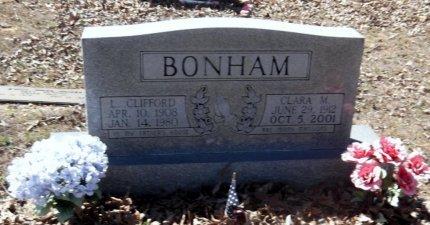 BONHAM, CLARA M - Lawrence County, Arkansas | CLARA M BONHAM - Arkansas Gravestone Photos