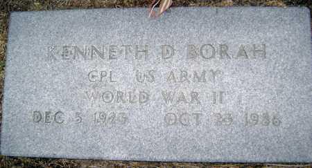 BORAH  (VETERAN WWII), KENNETH D. - Lawrence County, Arkansas | KENNETH D. BORAH  (VETERAN WWII) - Arkansas Gravestone Photos