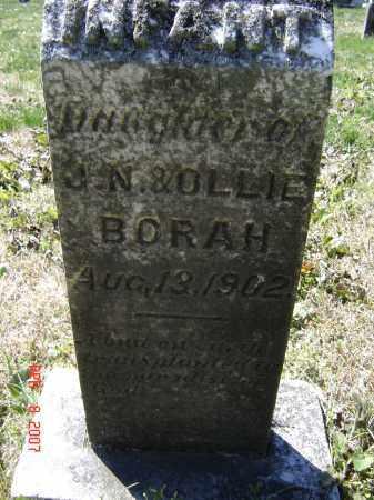 BORAH, INFANT DAUGHTER - Lawrence County, Arkansas | INFANT DAUGHTER BORAH - Arkansas Gravestone Photos