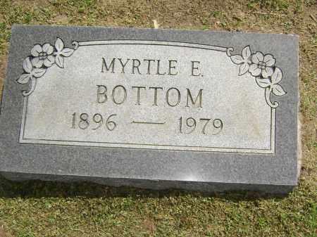 BOTTOM, MYRTLE E. - Lawrence County, Arkansas | MYRTLE E. BOTTOM - Arkansas Gravestone Photos