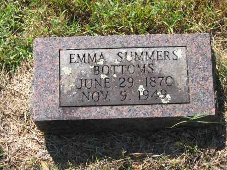SUMMERS BOTTOMS, EMMA - Lawrence County, Arkansas   EMMA SUMMERS BOTTOMS - Arkansas Gravestone Photos