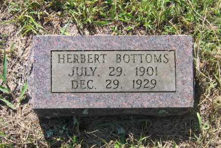 BOTTOMS, HERBERT OSCAR - Lawrence County, Arkansas | HERBERT OSCAR BOTTOMS - Arkansas Gravestone Photos