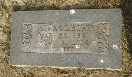 BOWEN, THOMAS D. - Lawrence County, Arkansas   THOMAS D. BOWEN - Arkansas Gravestone Photos