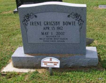 GRIGSBY WHITTAKER, IRENE  ESTELLE - Lawrence County, Arkansas | IRENE  ESTELLE GRIGSBY WHITTAKER - Arkansas Gravestone Photos