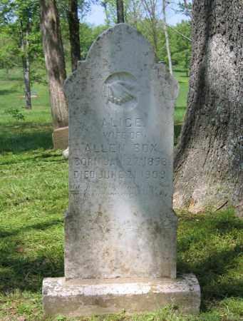 BOX, ALICE - Lawrence County, Arkansas   ALICE BOX - Arkansas Gravestone Photos
