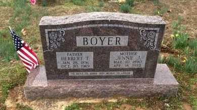 BOYER, JENNIE JANE - Lawrence County, Arkansas | JENNIE JANE BOYER - Arkansas Gravestone Photos