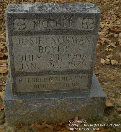 "BOYER, ZUMA JOSEPINE ""JOSIE"" - Lawrence County, Arkansas 