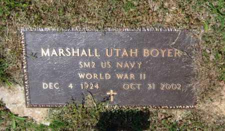 BOYER (VETERAN WWII), MARSHALL UTAH - Lawrence County, Arkansas   MARSHALL UTAH BOYER (VETERAN WWII) - Arkansas Gravestone Photos