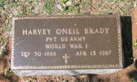 BRADY (VETERAN WWI), HARVEY ONEIL - Lawrence County, Arkansas | HARVEY ONEIL BRADY (VETERAN WWI) - Arkansas Gravestone Photos