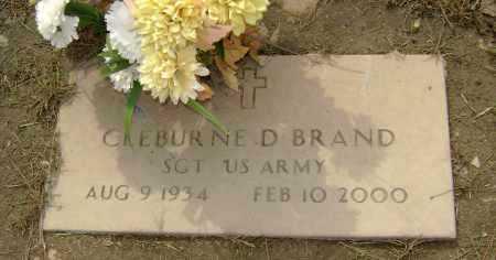 BRAND (VETERAN), CLEBURNE D - Lawrence County, Arkansas   CLEBURNE D BRAND (VETERAN) - Arkansas Gravestone Photos