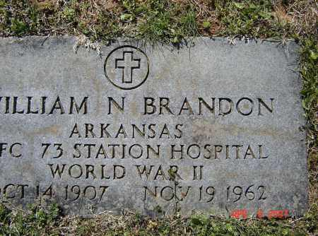 BRANDON (VETERAN WWII), WILLIAM NATHANIEL - Lawrence County, Arkansas | WILLIAM NATHANIEL BRANDON (VETERAN WWII) - Arkansas Gravestone Photos