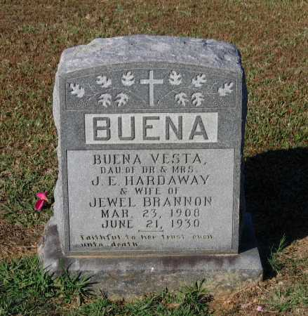 HARDAWAY BRANNON, BUENA VESTA - Lawrence County, Arkansas | BUENA VESTA HARDAWAY BRANNON - Arkansas Gravestone Photos