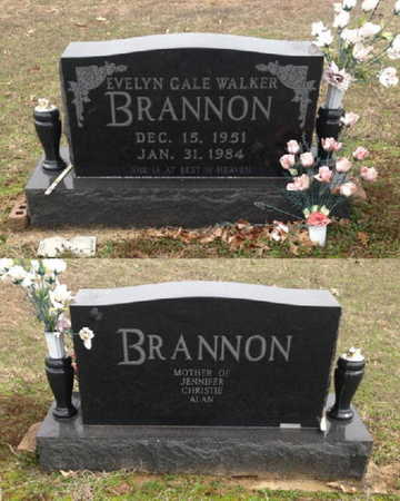 WALKER BRANNON, EVELYN GALE - Lawrence County, Arkansas | EVELYN GALE WALKER BRANNON - Arkansas Gravestone Photos