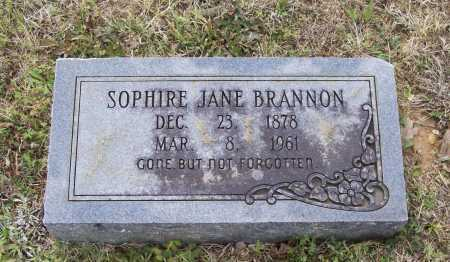 BRANNON, SOPHIRE JANE - Lawrence County, Arkansas | SOPHIRE JANE BRANNON - Arkansas Gravestone Photos