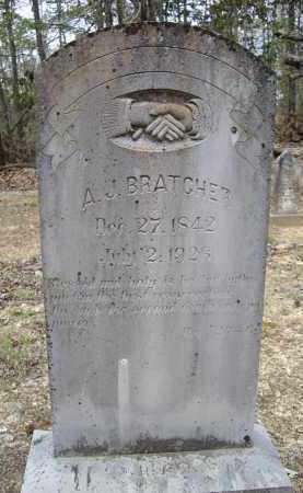 "BRATCHER (VETERAN CSA), AMOS J. ""A. J."" - Lawrence County, Arkansas | AMOS J. ""A. J."" BRATCHER (VETERAN CSA) - Arkansas Gravestone Photos"